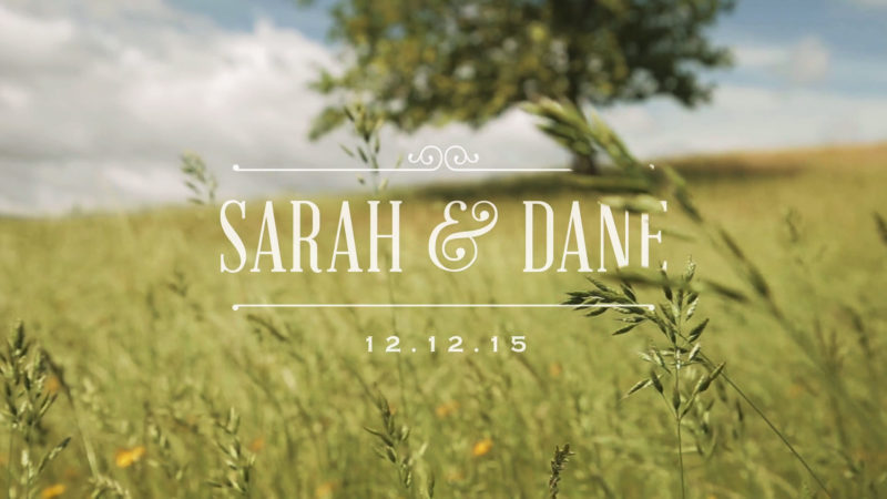 Sarah and Dane Wedding