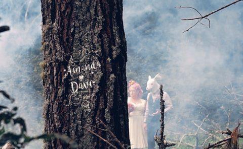 Amanda and Dave Alice in Wonderland Wedding