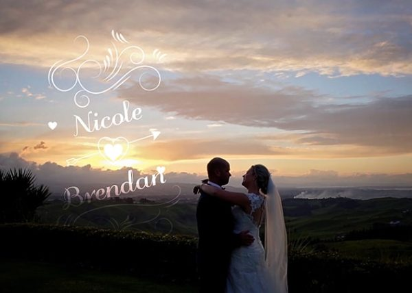 Nicole and Brendan Wedding Video at Eagle Ridge Tauranga