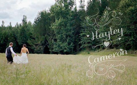 Wedding Video Hayley and Cameron